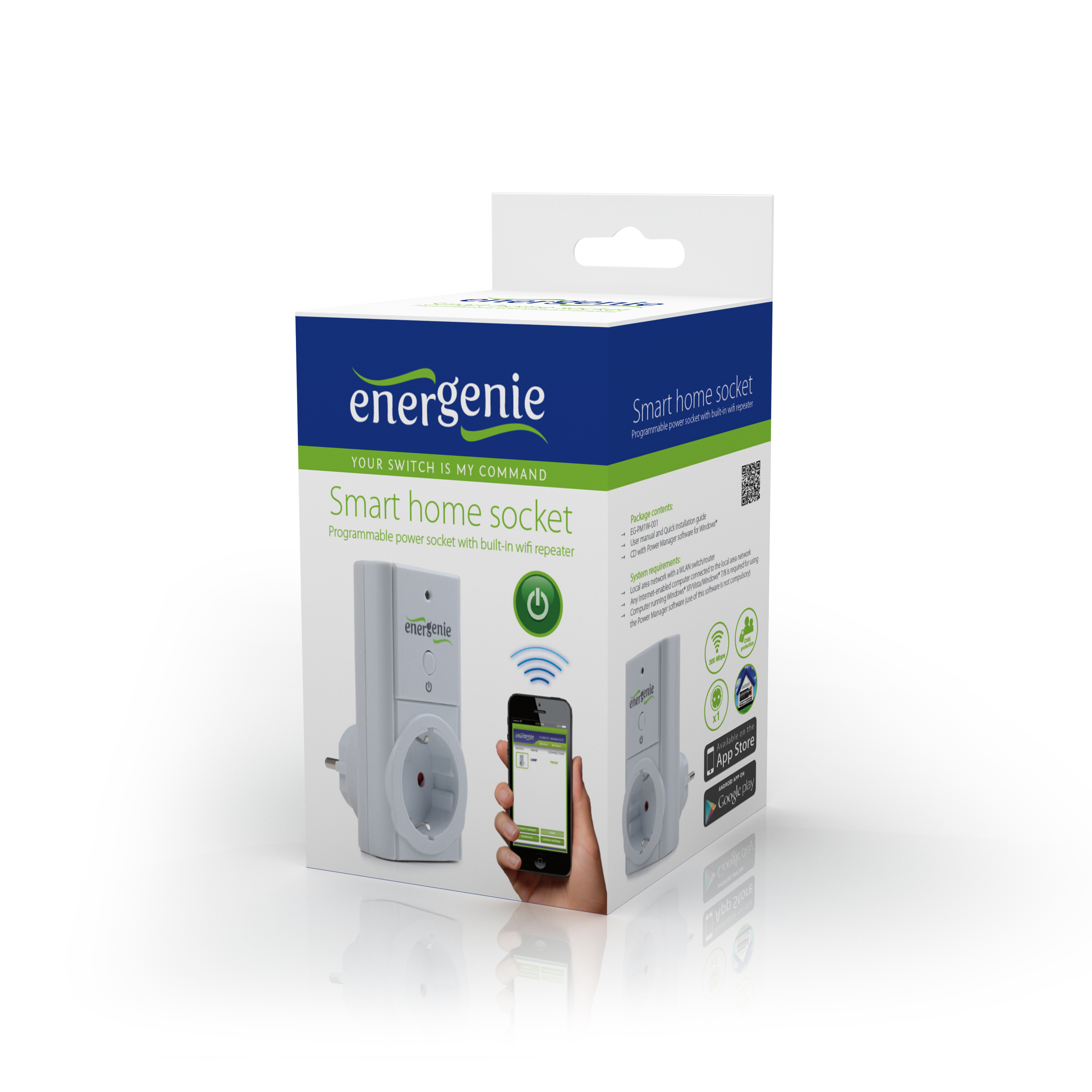 WiFi Smart Home Socket (EG-PM1W-001)